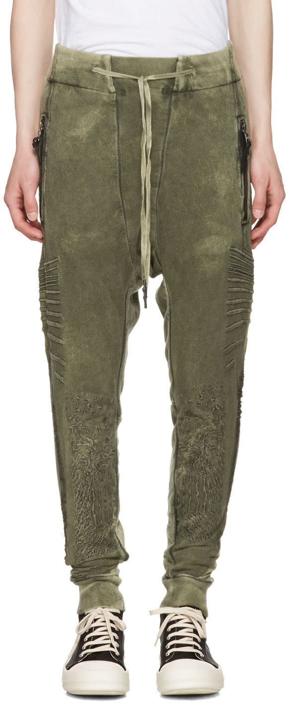 11 By Boris Bidjan Saberi Green Optic Jogging Pants