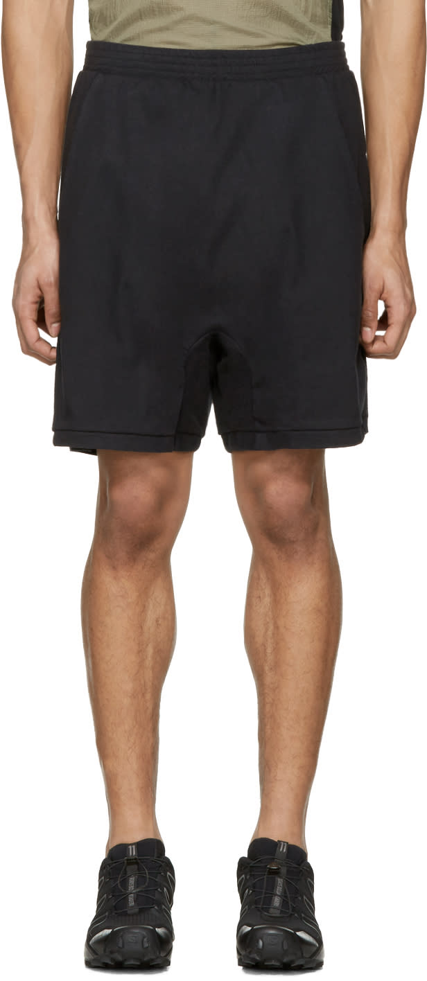 11 By Boris Bidjan Saberi Black Jogging Shorts