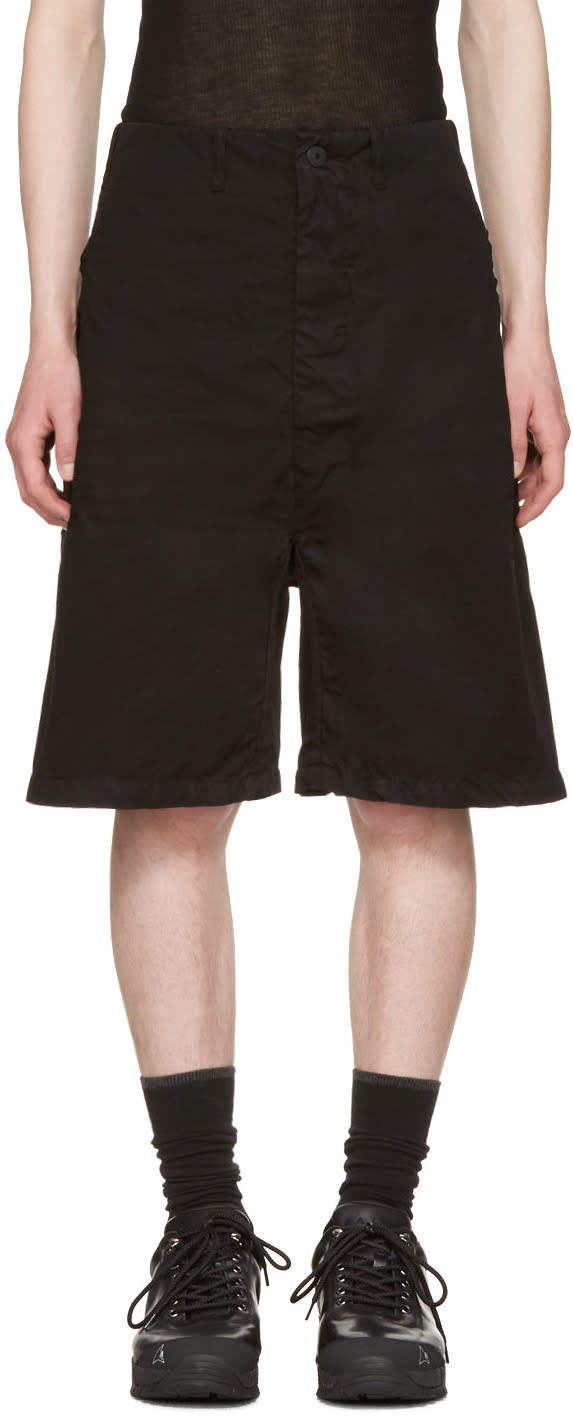 Image of 11 By Boris Bidjan Saberi Black Chino Shorts
