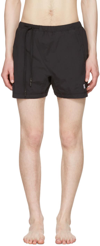 11 By Boris Bidjan Saberi Black Nylon Swim Shorts