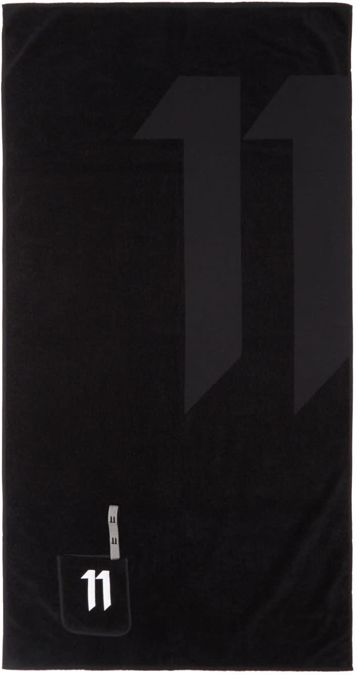 11 By Boris Bidjan Saberi Black Pocket Logo Towel