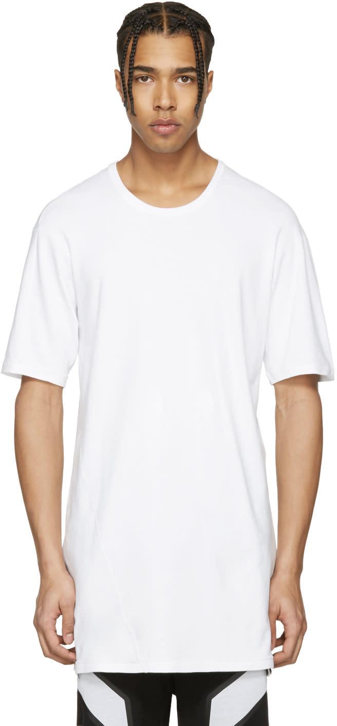 11 By Boris Bidjan Saberi White Overlong T-shirt