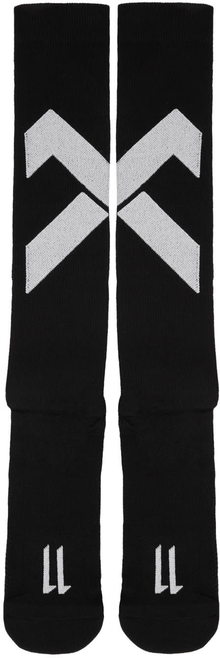 11 By Boris Bidjan Saberi Black Classic Sport Cross Logo Socks