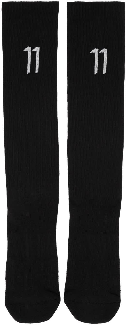 11 By Boris Bidjan Saberi Black Classic Sport Logo Socks