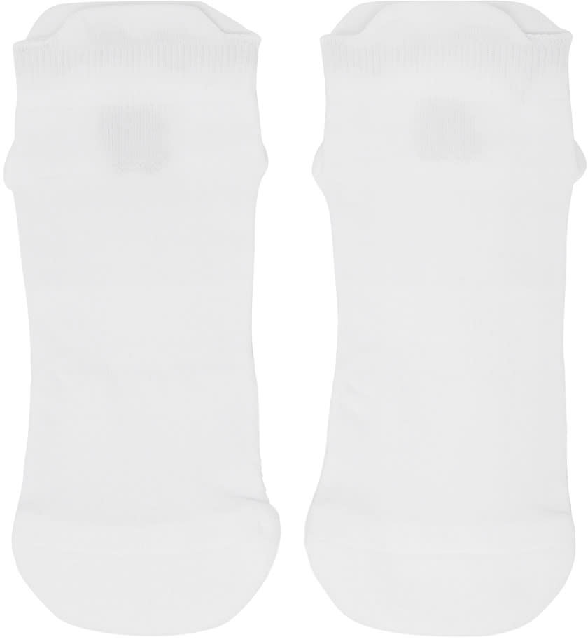 11 By Boris Bidjan Saberi White Logo Low Socks