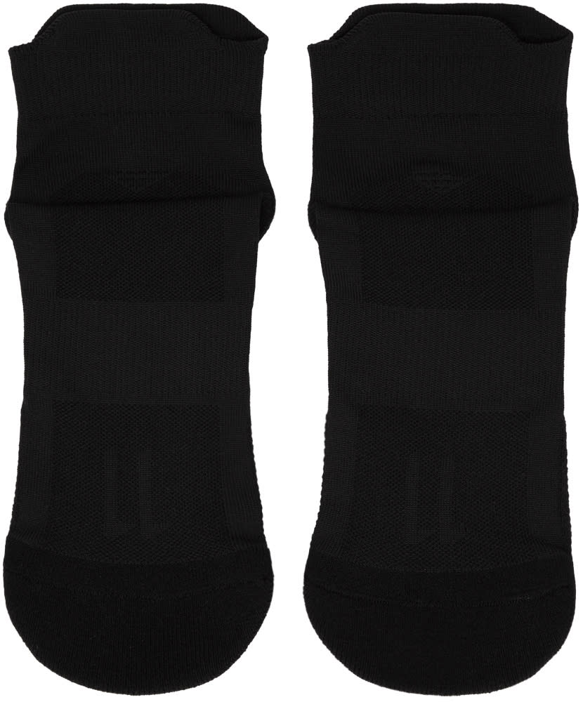 11 By Boris Bidjan Saberi Black Logo Low Socks