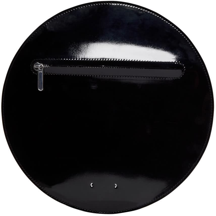 Pb 0110 Black Patent Leather Ab 44 Circle Pouch