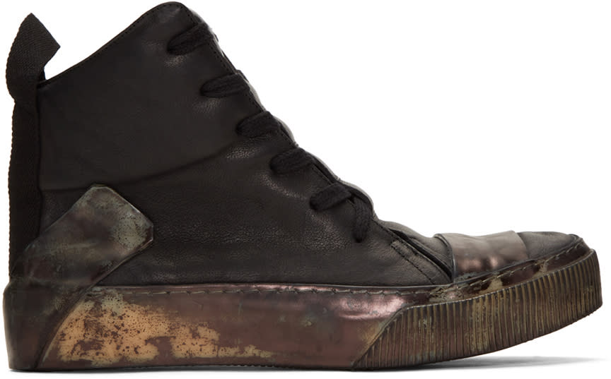 Boris Bidjan Saberi Black Bamba 1 High-top Sneakers
