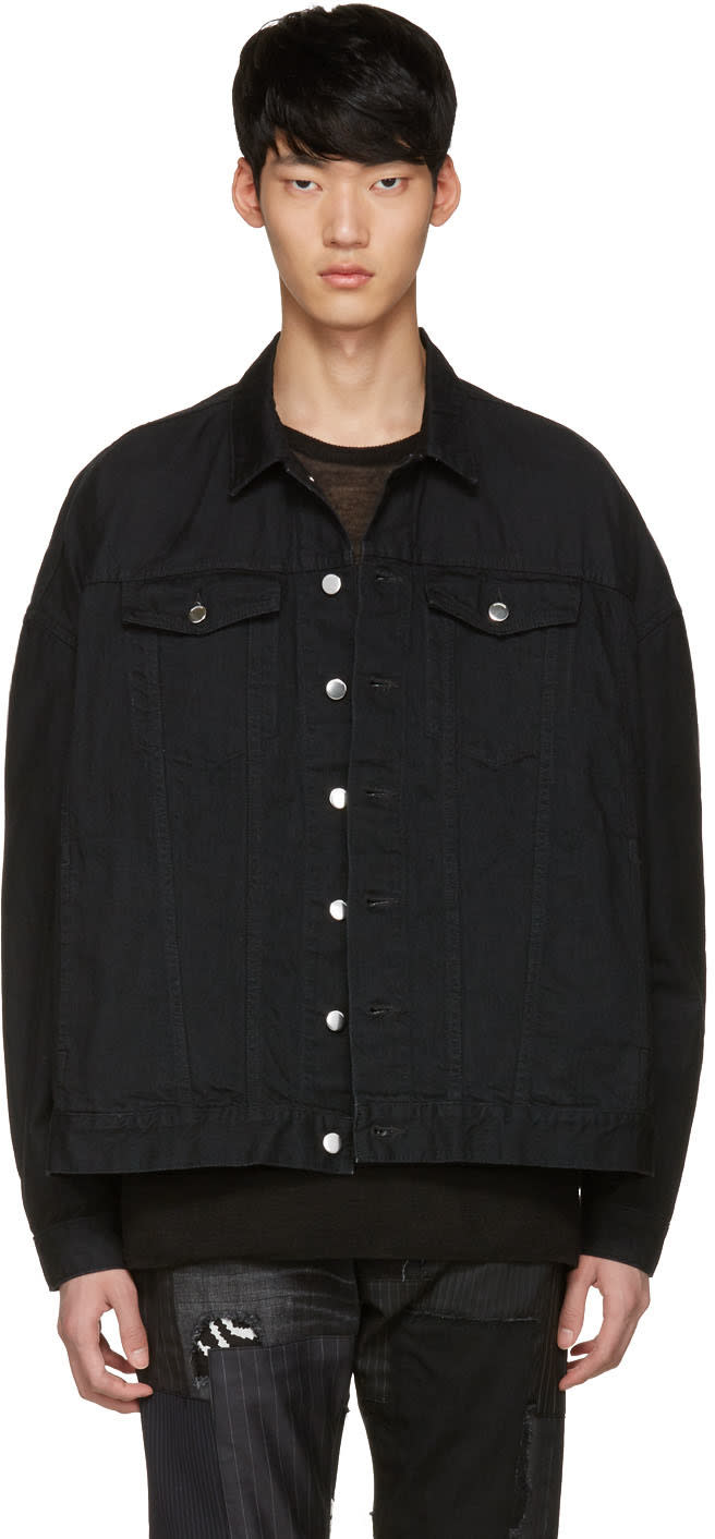 Diet Butcher Slim Skin Black Oversized Denim Jacket