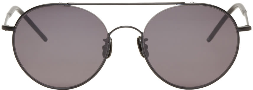 Johnlawrencesullivan Black Round Sunglasses