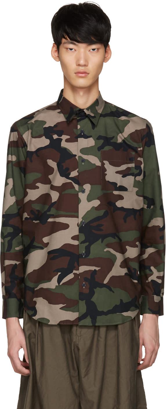 Johnlawrencesullivan Khaki Camo Shirt