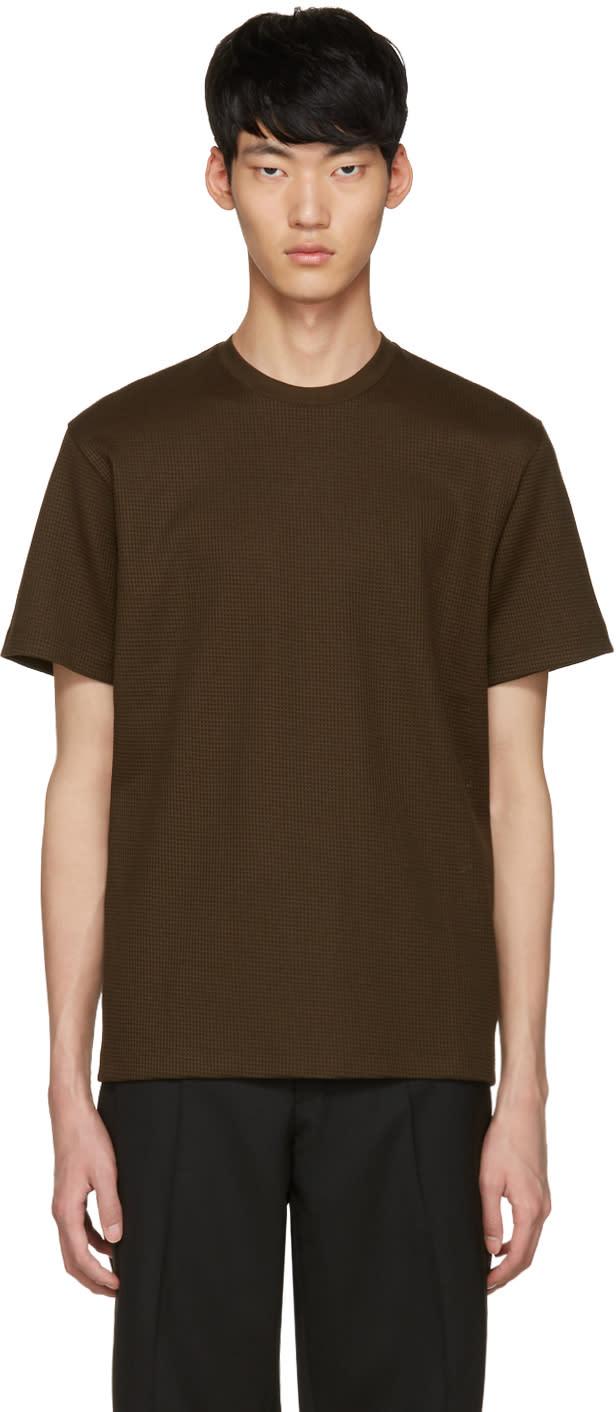 Johnlawrencesullivan Khaki Waffle Knit T-shirt