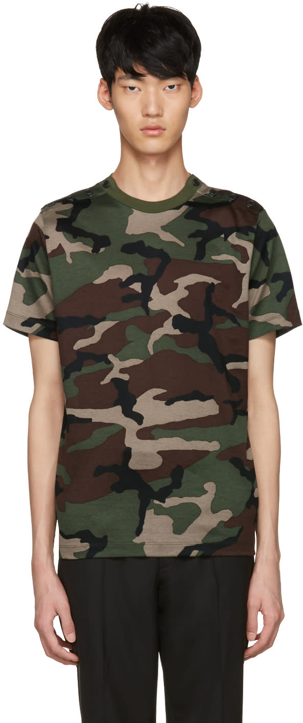 Johnlawrencesullivan Khaki Camo T-shirt