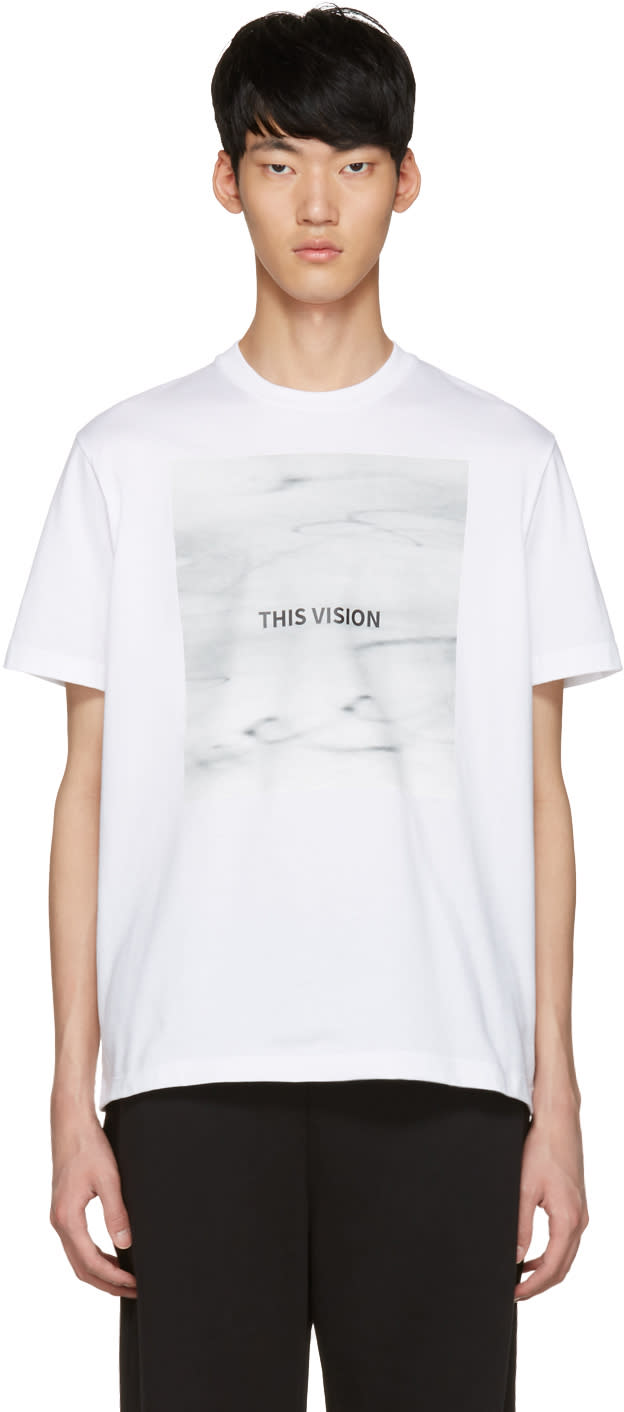 Johnlawrencesullivan White this Vision T-shirt