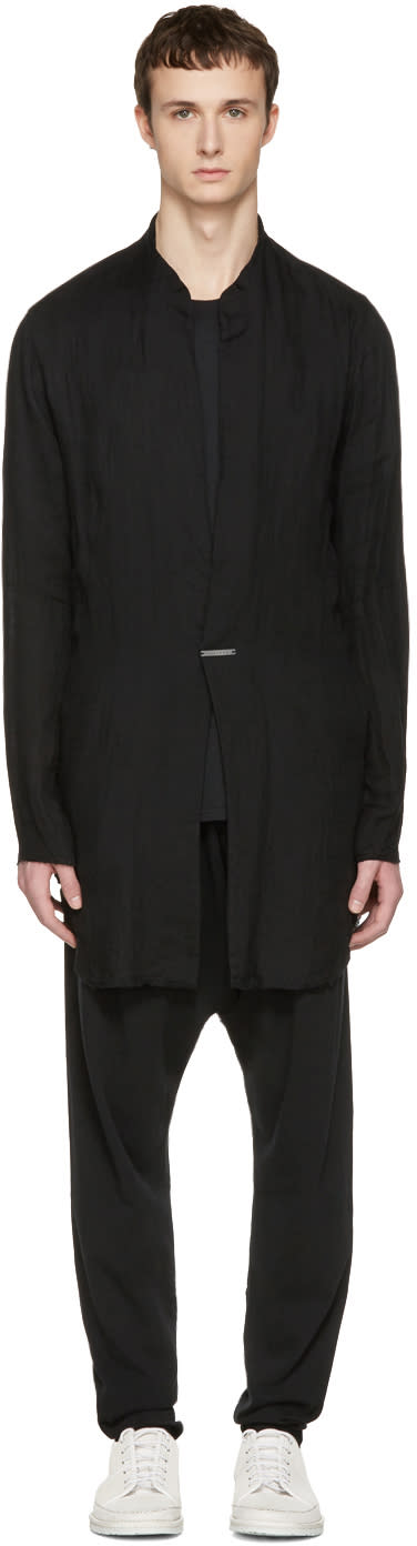 Nude:mm Black Long Shirt Jacket