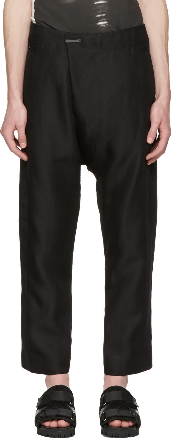 Nude:mm Black Tailor Trousers
