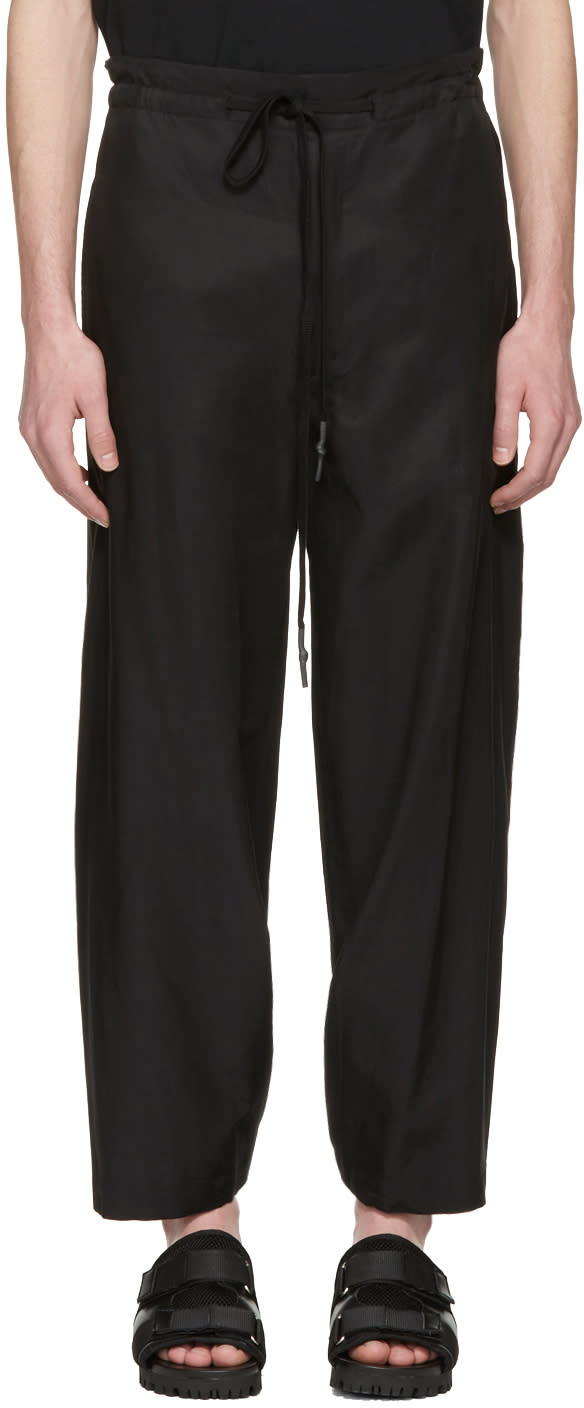 Nude:mm Black Wide Leg Trousers