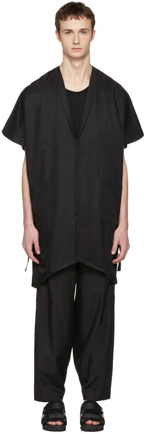 Nude:mm Black Kimono Shirt