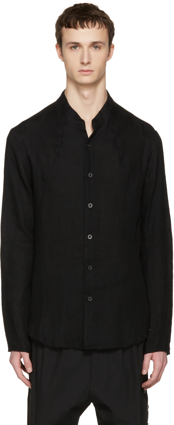 Nude:mm Black Button Down Shirt
