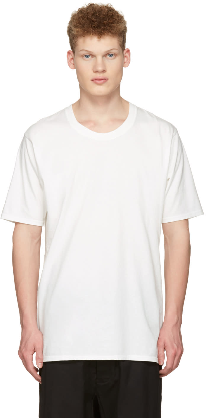 Nude:mm Off-white Basic T-shirt
