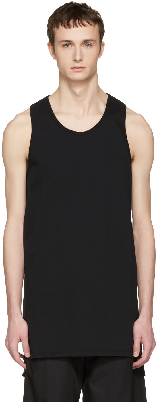 Nude:mm Black Long Tank Top