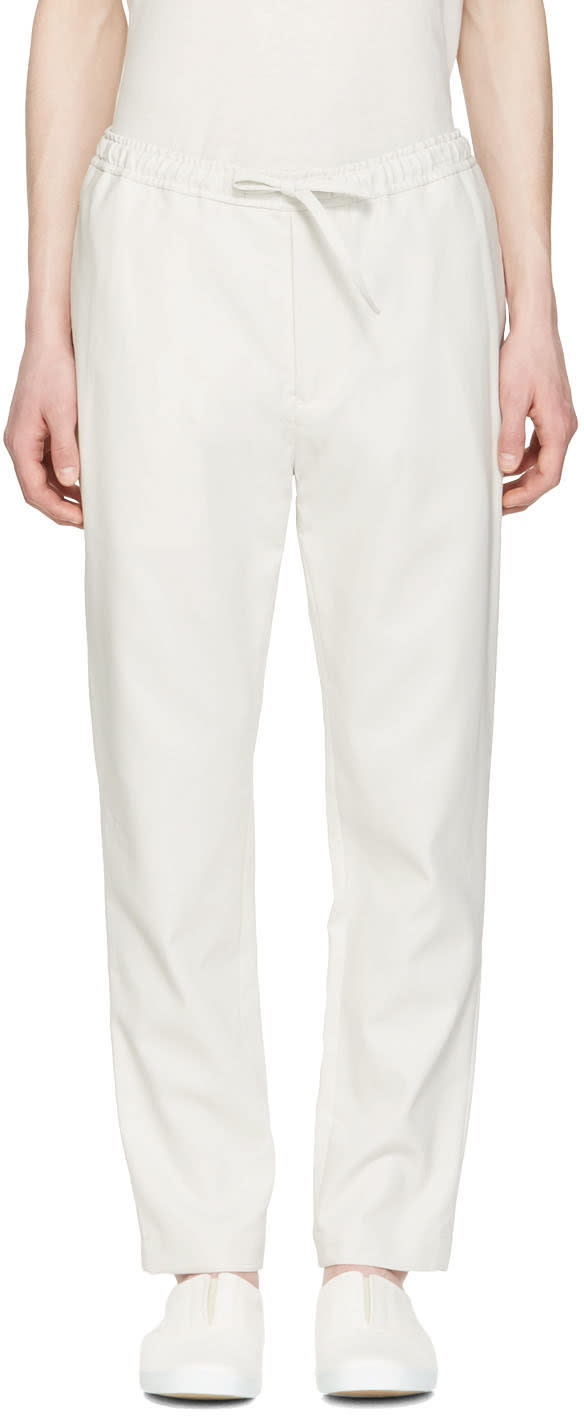 Undecorated Man Grey Drawstring Trousers
