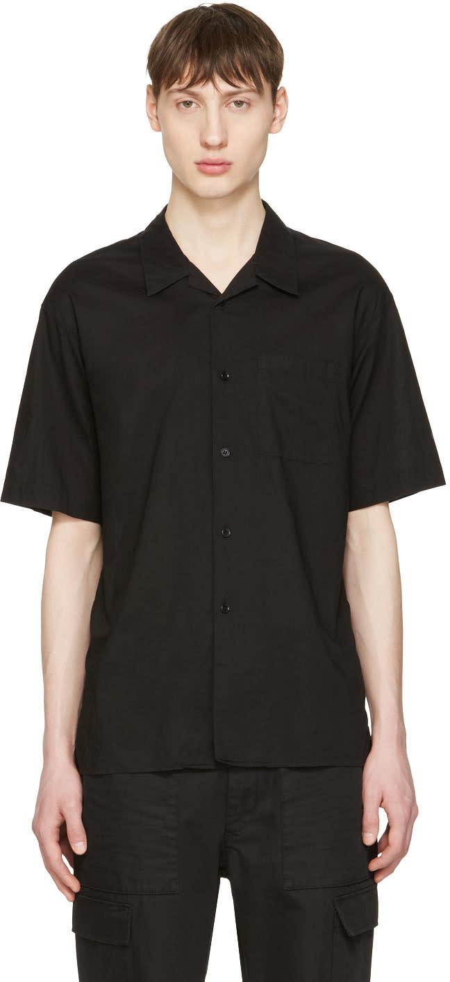 Undecorated Man Black Pocket Shirt