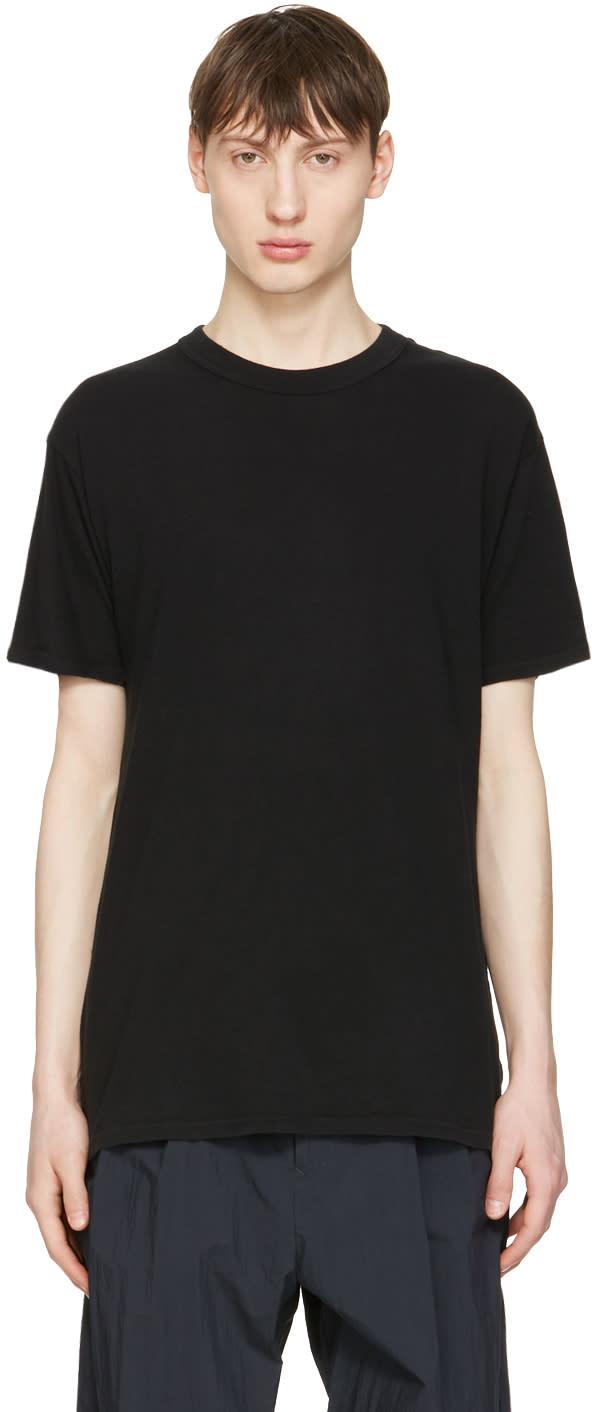Undecorated Man Black Cotton T-shirt
