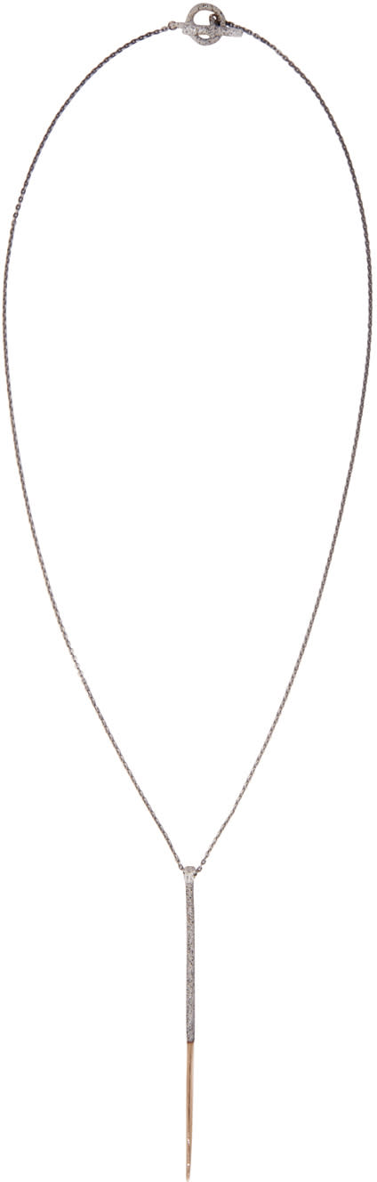 Pearls Before Swine Gold Long Thorn Necklace