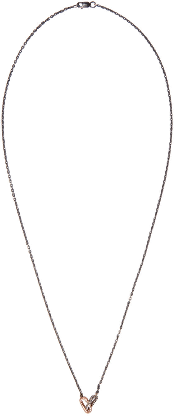 Pearls Before Swine Silver and Rose Gold Double Link Necklace