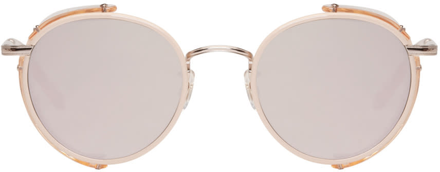 Garrett Leight Pink Wilson Sun Shield Sunglasses