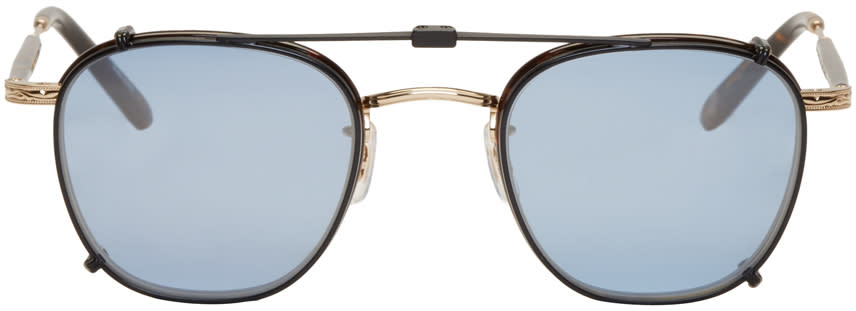 Garrett Leight Tortoiseshell Grant Clip-on Sunglasses
