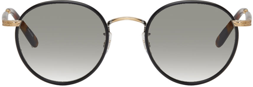 Garrett Leight Black Wilson Sunglasses