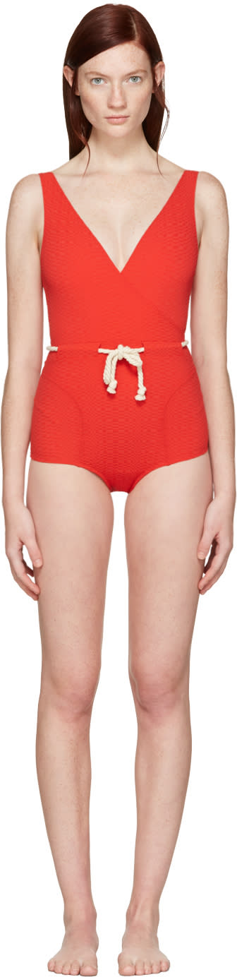 Lisa Marie Fernandez Red Yasmin Swimsuit