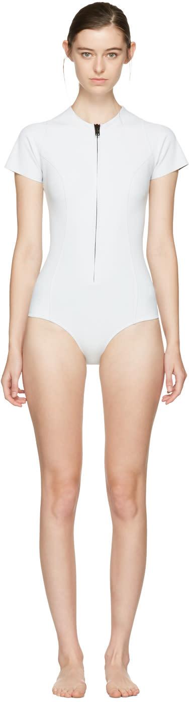 Lisa Marie Fernandez White Farrah Swimsuit