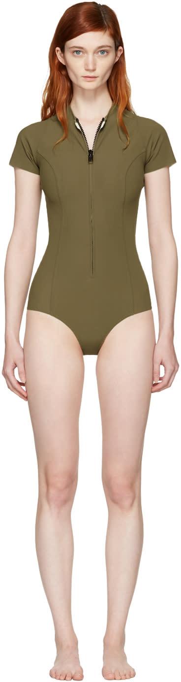 Lisa Marie Fernandez Khaki Farrah Swimsuit