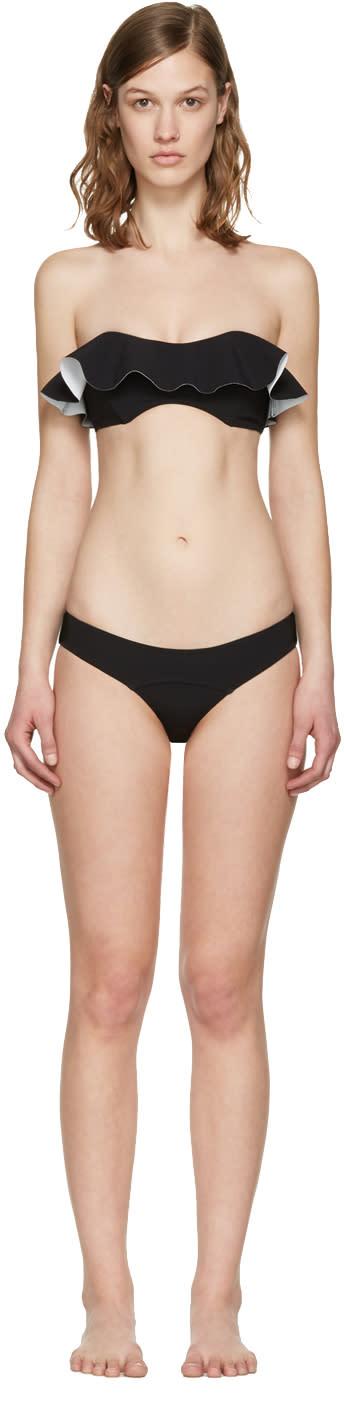 Lisa Marie Fernandez Black Natalie Flounce Bikini