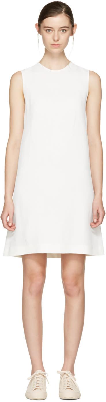 Jil Sander Navy White A-line Shift Dress