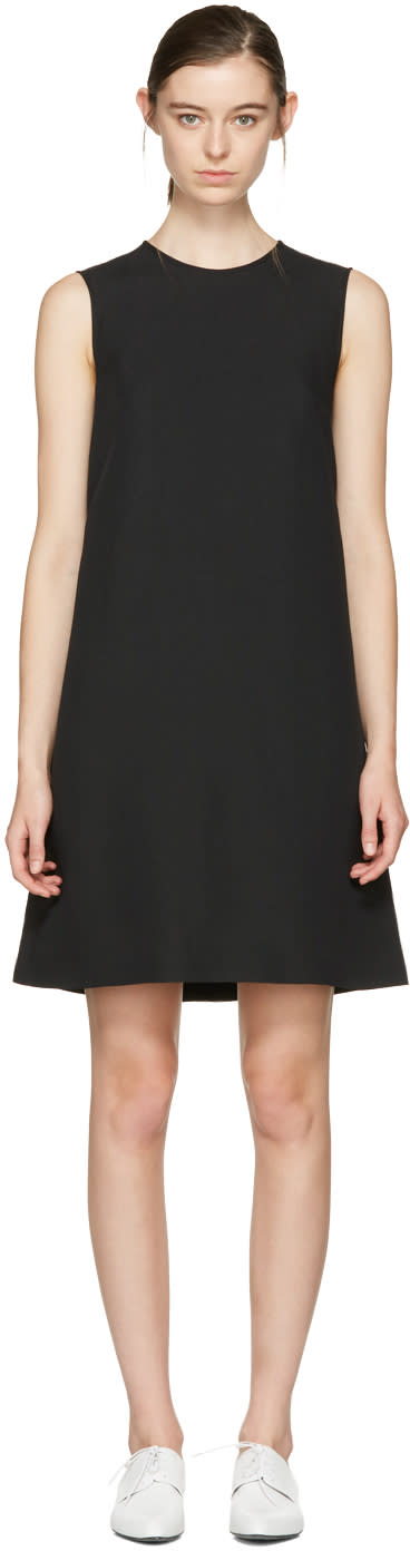 Image of Jil Sander Navy Black A-line Shift Dress