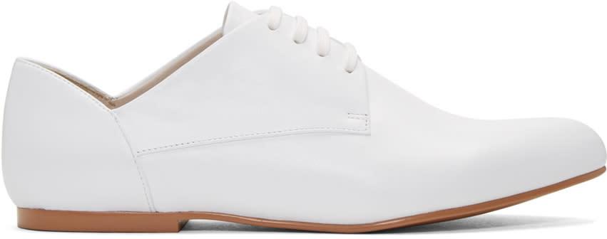 Jil Sander Navy White Leather Galaxy Derbys