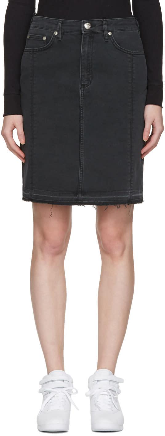 Won Hundred Black Denim Carola Miniskirt