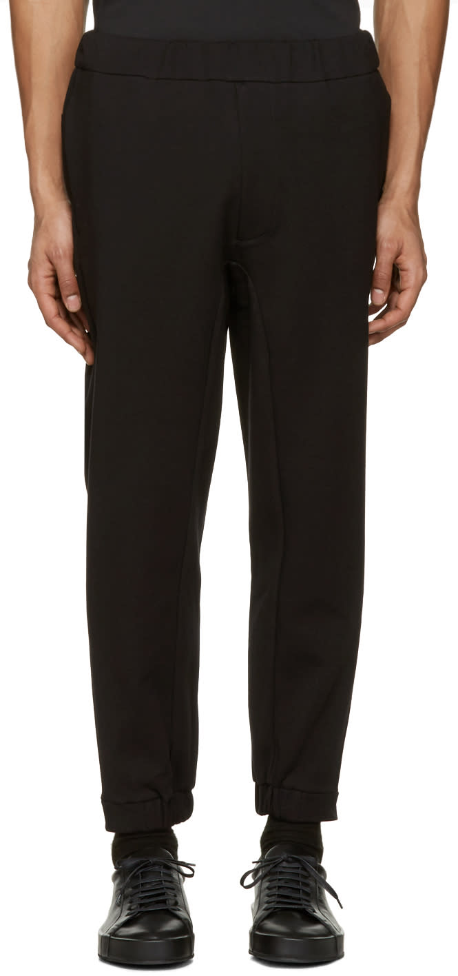 Oamc Black Mixed Rib Lounge Pants