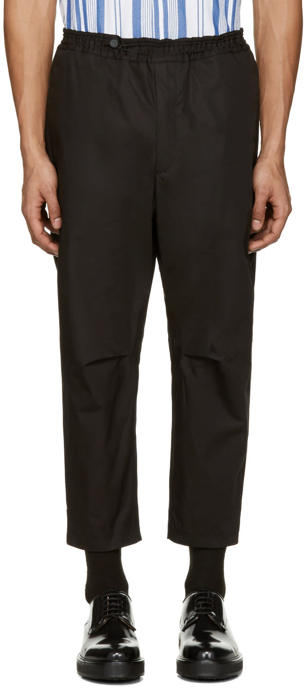 Oamc Black Cropped Isle Trousers