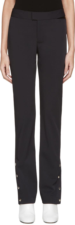 Nomia Navy Snap Hem Trousers