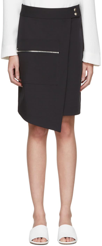 Nomia Navy Zip Wrap Skirt