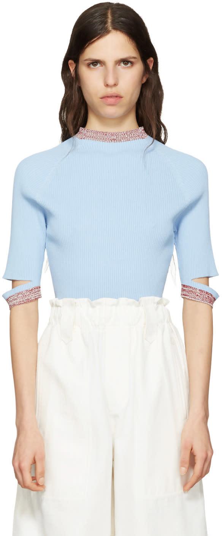 Nomia Blue Slit Pullover