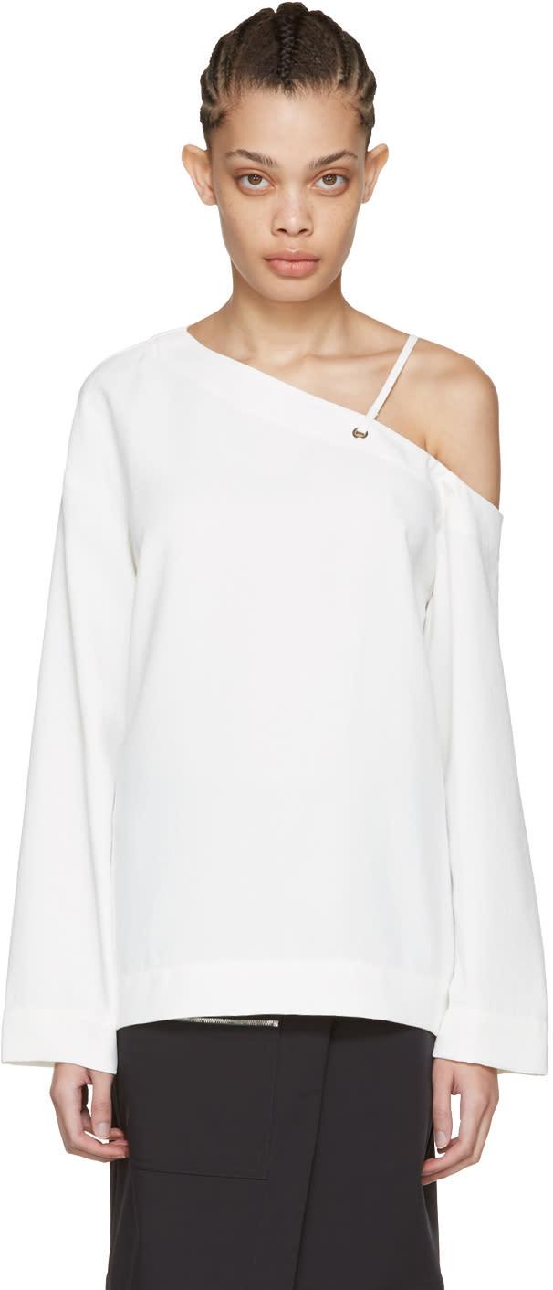 Nomia White Laced Shoulder Blouse