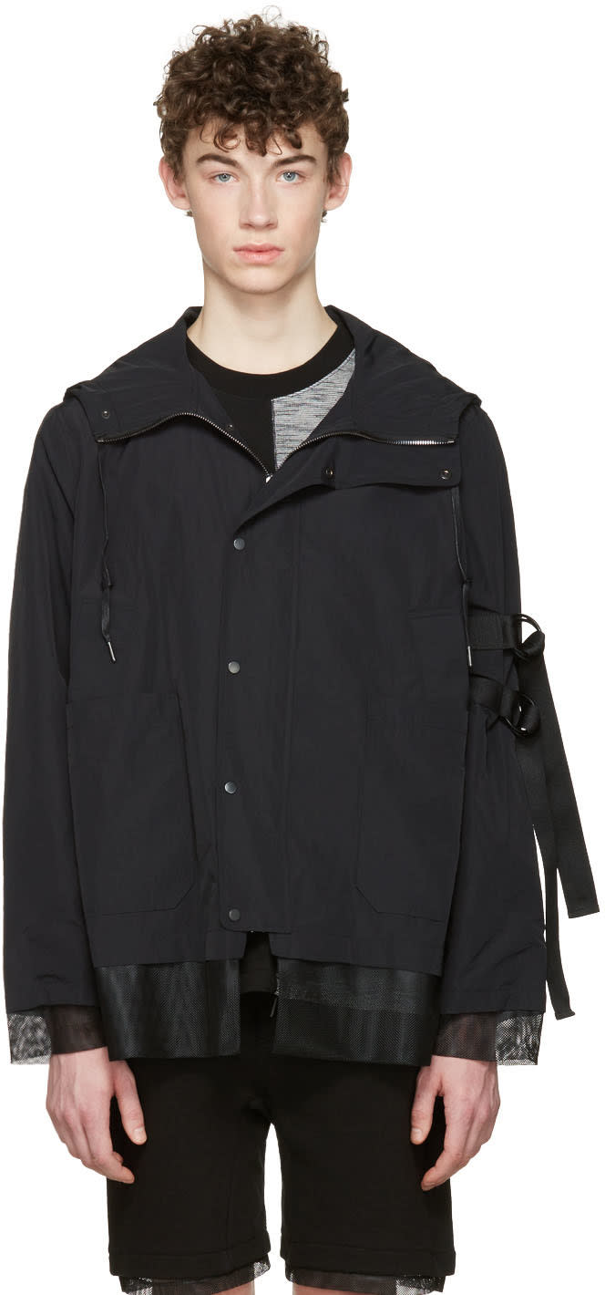 D By D Black Hooded Jacket