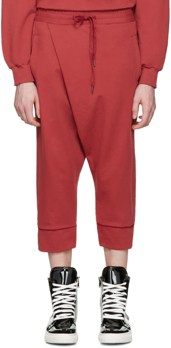 D By D Red Wrap Lounge Pants