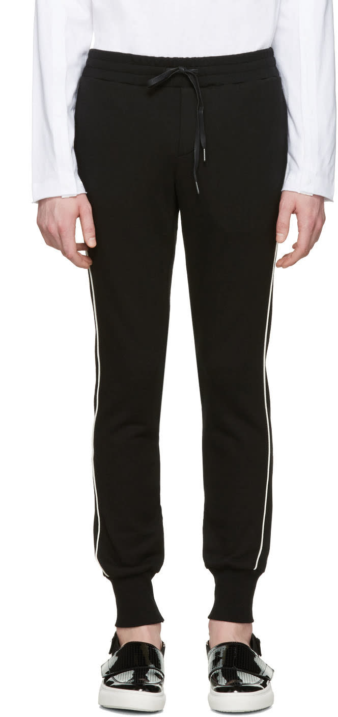 D By D Black Piping Lounge Pants